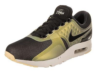 best website b28b2 28e47 Nike Mens Air Max Zero SE Black/Black/Light/Bone Running Shoe 10.5 Men US