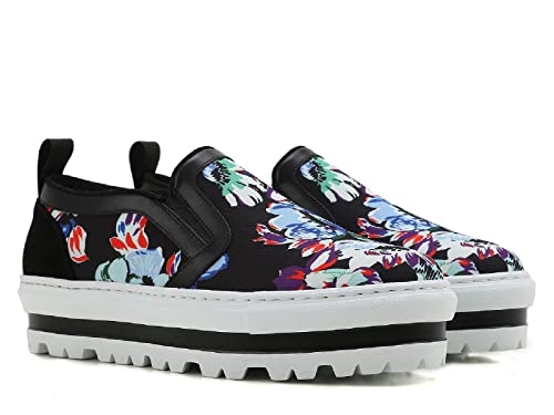 MSGM Sneakers Slip-on Zeppa Pelle e Tessuto Nero Stampa Floreale - Codice  Modello  2241MDS08 007 - Taglia  40 IT  Amazon.it  Scarpe e borse 4e7d9ae3b37