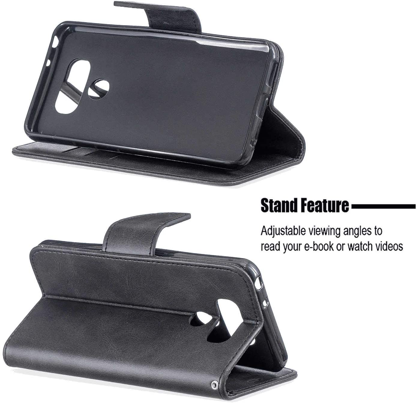 Simple Flip Case Fit for Samsung Galaxy S20 Black Leather Cover Wallet for Samsung Galaxy S20