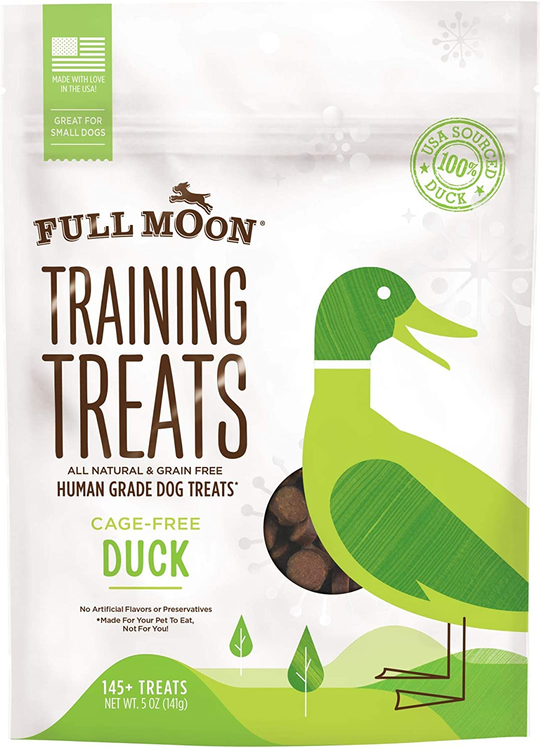 Full Moon Organic Human Grade Training Treats for Dogs