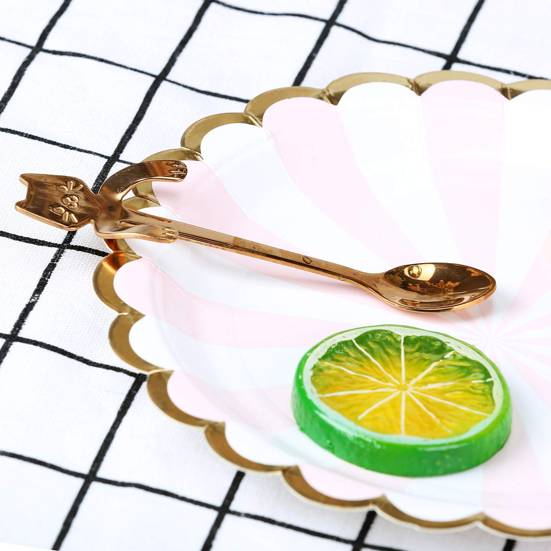 BingGoGo Cute Cat Coffee Spoon,Tea spoon,Stainless Steel,2 PCS cs001