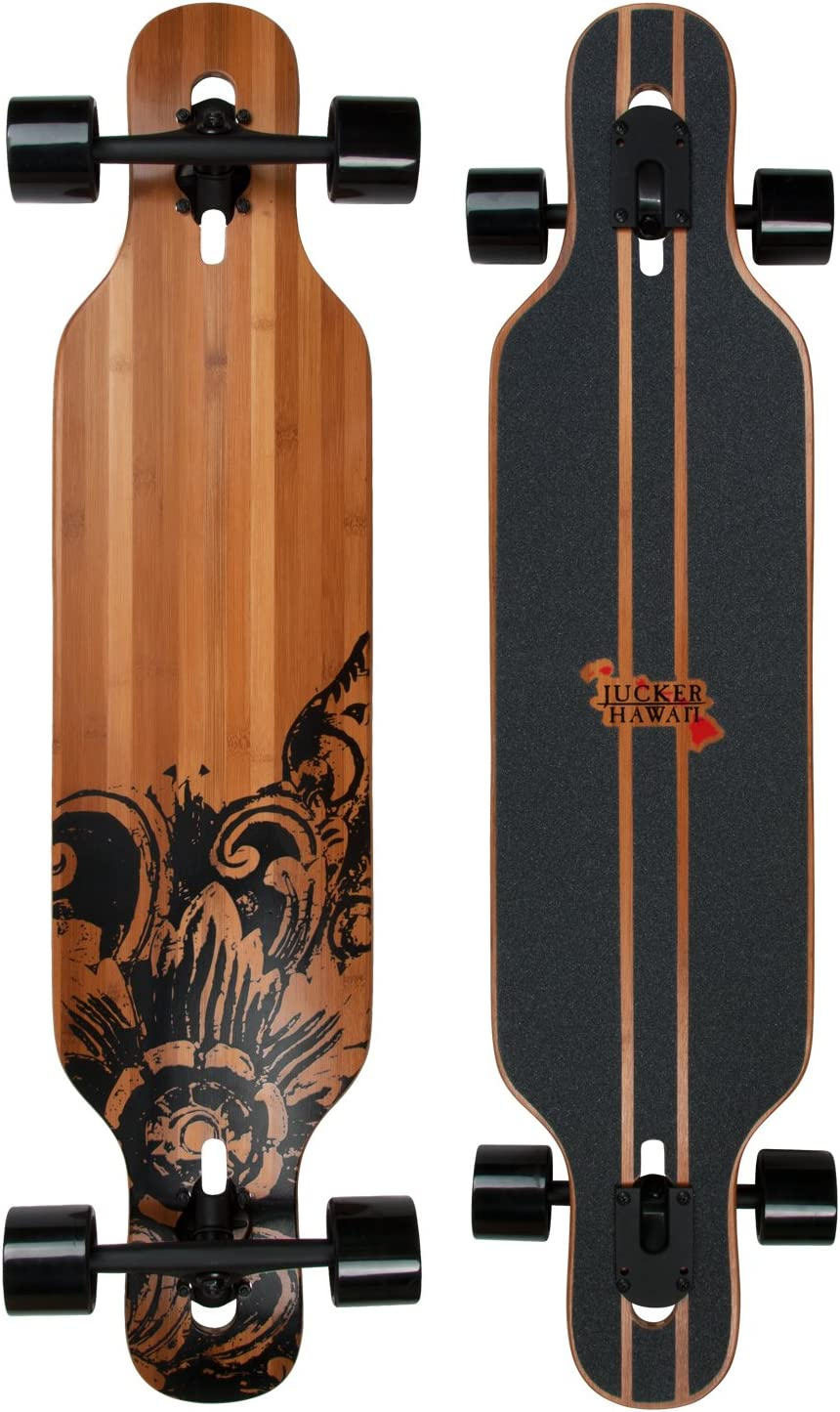 Longboard Skateboard Drop Through Complete in 3 Flex levels - JUCKER HAWAII NEW HOKU - Freeride, Cruiser, Slide Longboard / UK