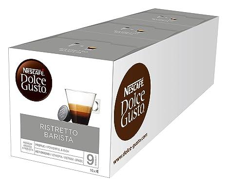 NESCAFÉ Dolce Gusto Ristretto Barista | 48 Kaffeekapseln | Kräftiger Espresso | Robusta und Arabica Bohnen | dunkle Röstung|