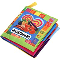 Zibuyu Soft Cloth Book Baby Kids Early Educational Cartoon Book Toys (Vegetable)