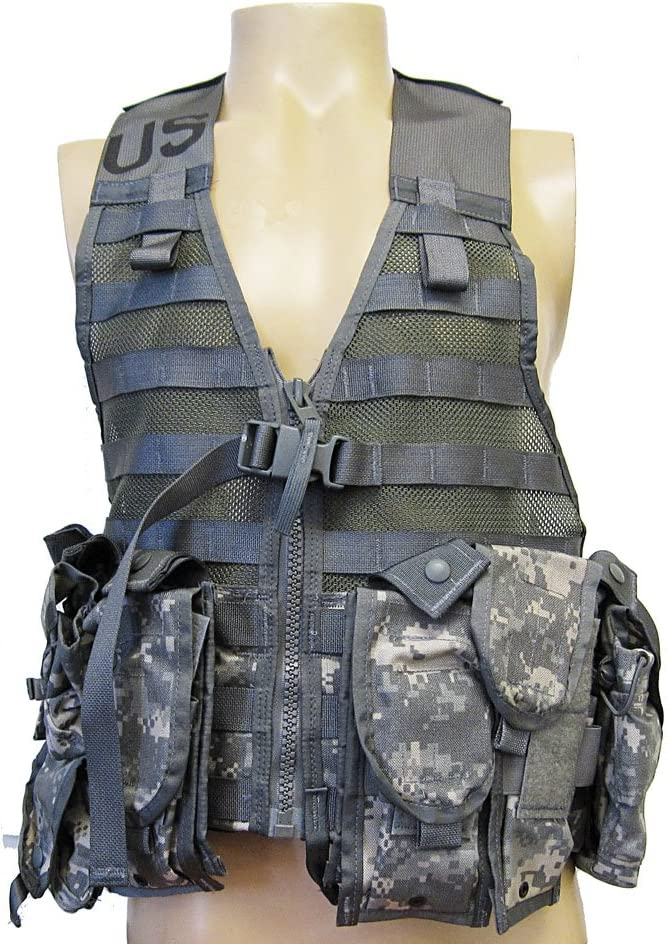New Military ACU Fighting Load Carrier FLC Vest MOLLE II w// Canteen /& Pouch