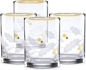 Lenox 886861 Holiday Gold Double Old Fashioned 4-Piece Glass Set