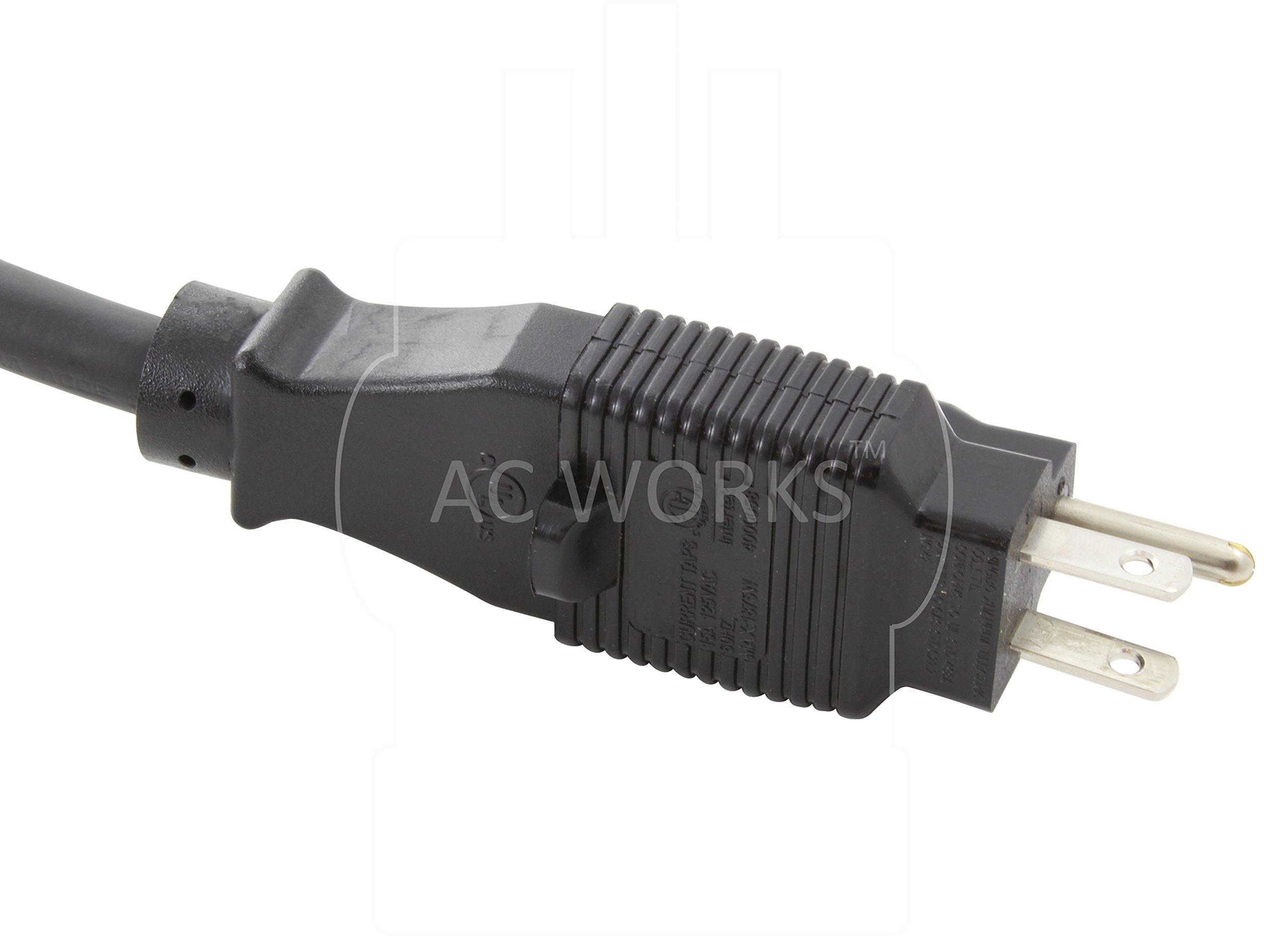 AC WORKS 15 to 20Amp 125Volt T-Blade Adapter (10PK-Compact)