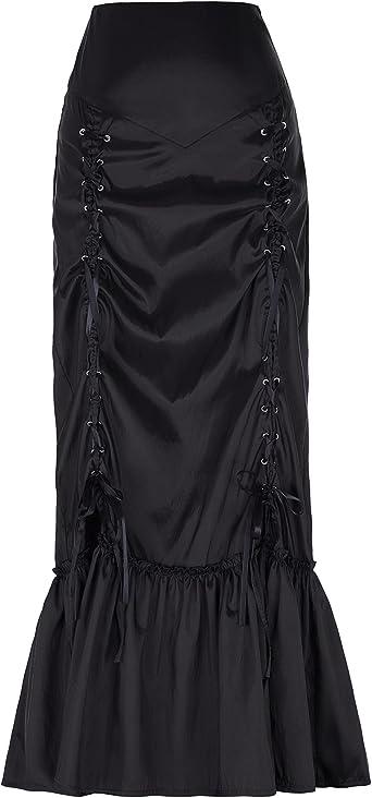 Yafex - Falda - Básico - para mujer negro Small: Amazon.es: Ropa y ...