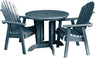 product image for Highwood 3 Piece Hamilton Round Dining Set, Nantucket Blue