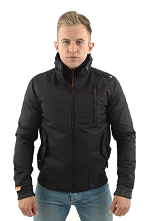 top quality huge selection of factory Superdry Moody Norse Bomber Jacket Black (XXL): Amazon.co.uk ...