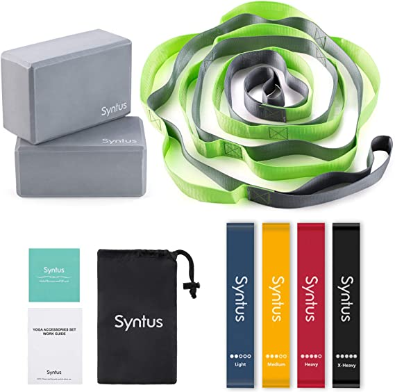 Syntus 9-in-1 Yoga Set, 1 Yoga Strap with 12 Loops