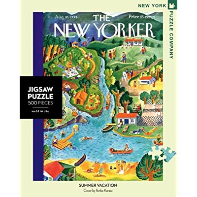 New York Puzzle Company - New Yorker Summer Vacation - 500 Piece Jigsaw Puzzle: Toys & Games