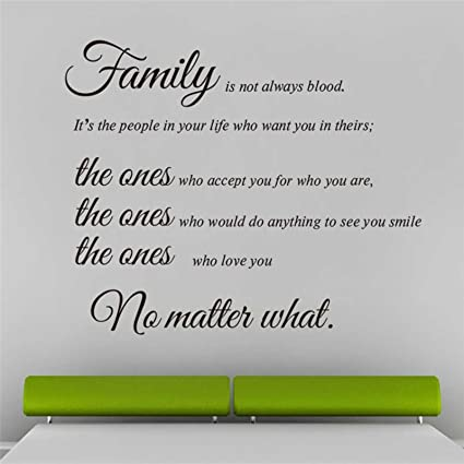 Amazoncom Ptk12 Family Is Not Always Blood Vinyl Wall Stickers