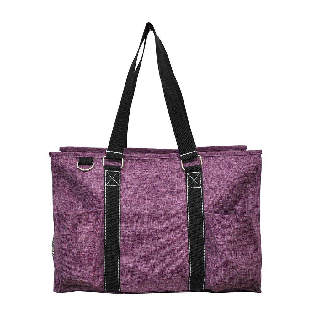 Crosshatch Solid Print NGIL Zippered Caddy Organizer Tote Bag