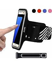 EOTW Brassard Sport pour Samsung Galaxy S7/S6/s6 Edge/S5, Brassard téléphone avec Espace pour Cartes, clés, Argent & écouteurs, Bon Maintien pour de Course, Jogging, Vélo, Pêche (5,1 Pouces, Noir)