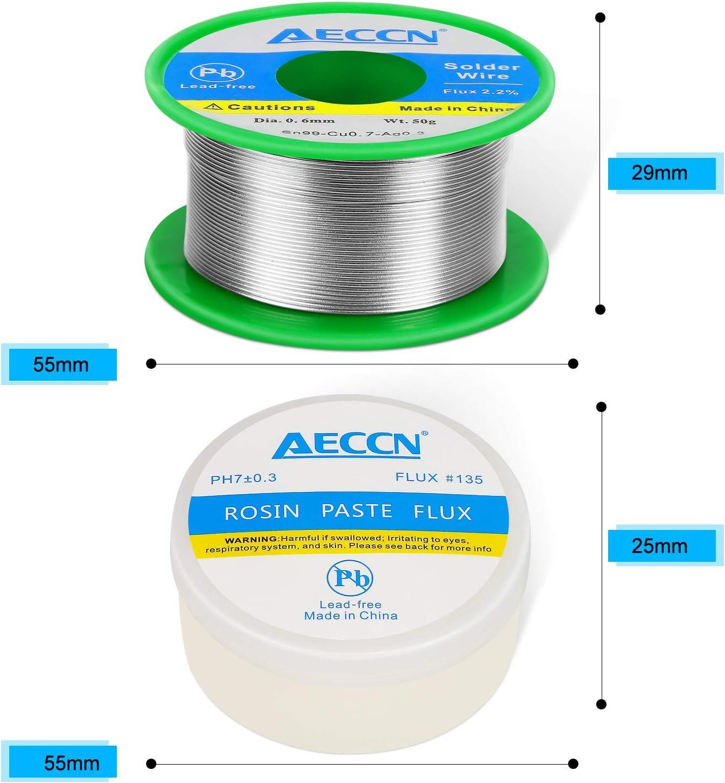 colophane /à souder sans plomb AECCN Kit de fournitures de fer /à souder 5 en 1 sans plomb ruban isolant tournevis pour r/éparation /électrique flux de soudure sans plomb fils /électroniques