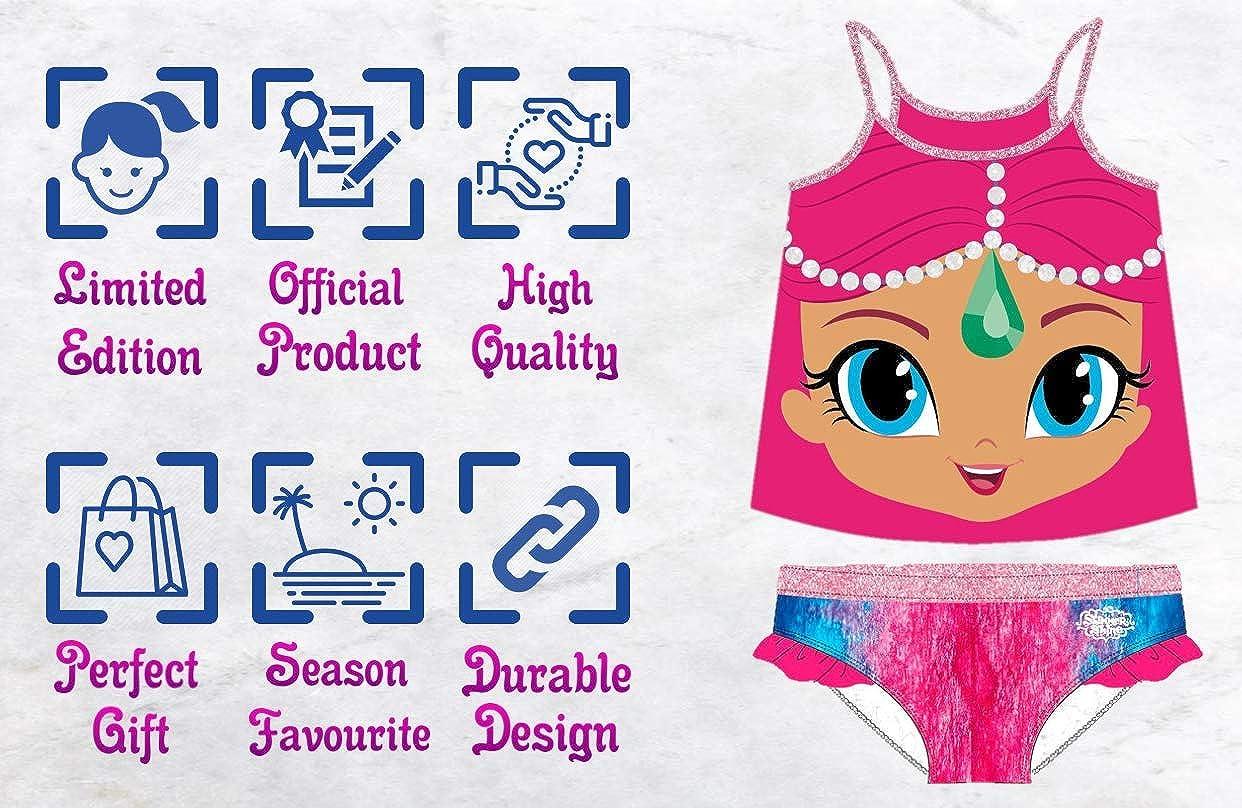 Super Glittery Shimmery Design Shimmer /& Shine Girls Premium One Piece 2 Piece Costume Swimsuit Bathing Costume Beautifully Designed  