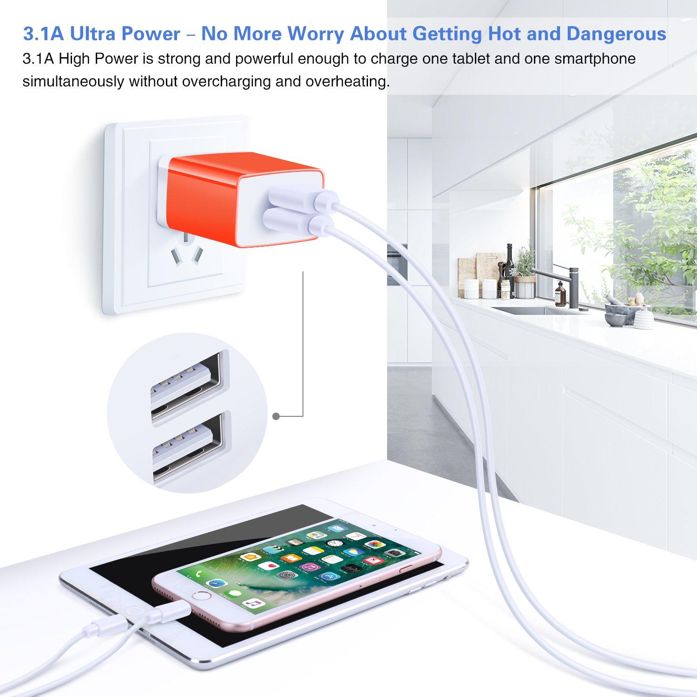 Amazon.com: Cargador de pared USB: Cell Phones & Accessories
