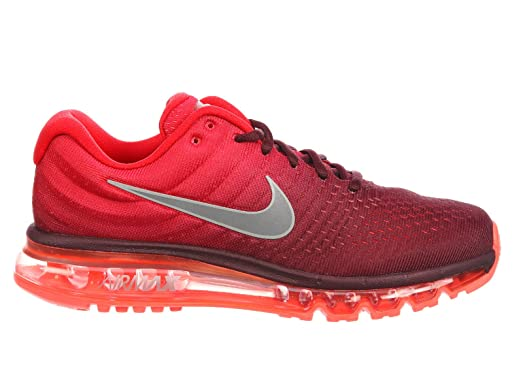 Nike Men's Air Max 2017 Maroon/White/Gym Red Nylon Running Shoes 15 M