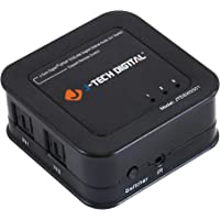 J-Tech Digital ® Premium Quality SPDIF TOSLINK Digital Optical Audio 3x1 Switch with Remote Control (Three Inputs one Output)