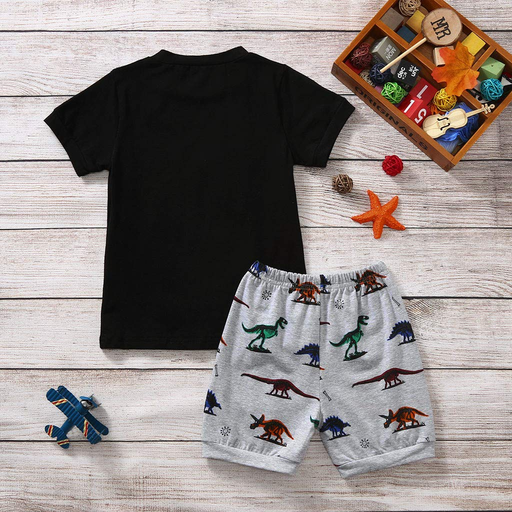 MAYOGO Ropa para ni/ño beb/és Conjunto Dinosaurio Estampado Camiseta Manga Corta Pantalones Corta Ropa Bebe Dinosaur Trajes de Bebe Ni/ño Verano Ropa Bebe Animales Beb/é Ni/ño 2-7 A/ños