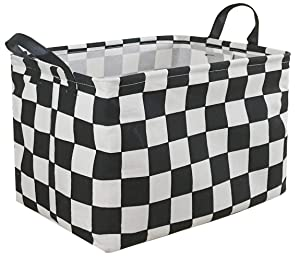 MZIMIK Rectangular Storage Basket Collapsible Organizer Bin Waterproof Toy Box for Organizing Home/Dorm/Kitchen/Pet/Office/Closet/Shelf/Gift Baskets(Blocks)