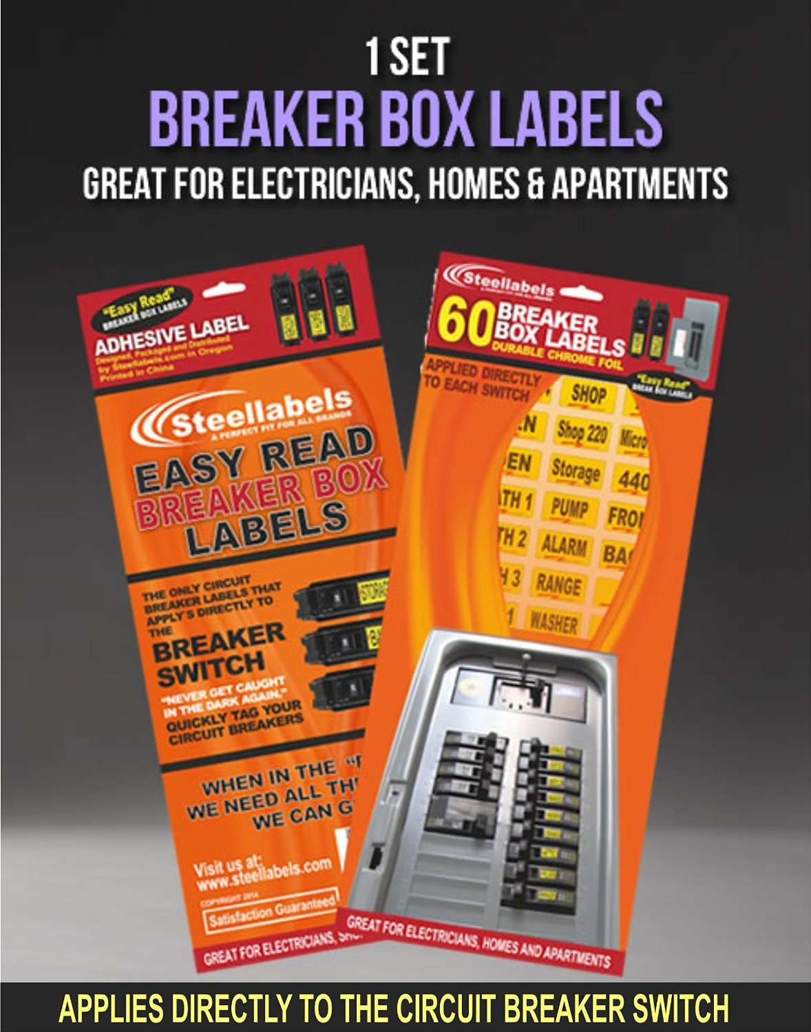Breaker Box Decals Plus A Assembly Id Labels Tough Vinyl For Circuit Breakers And Chrome Foil Tagging Numbering Great Home Owners