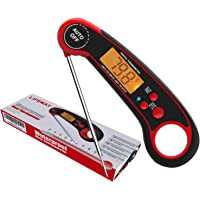 LIFEWAY Digital Instant Read Meat Thermometer, Waterproof Food Thermometer with Backlight & Calibration, Kitchen Cooking…