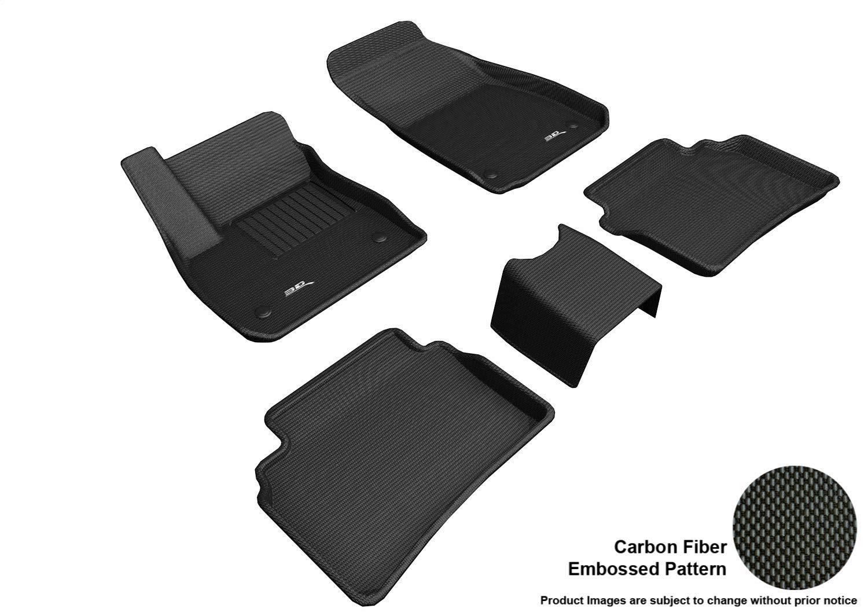 3D MAXpider L1BC03901509 Custom Fit All-Weather Kagu Series Floor Mats Black Complete Set for Buick Regal