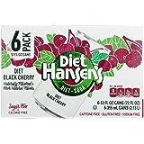 Hansen'S Beverages, Soda, Blk Cherry, Diet, Pack of 4, Size - 6/12 FZ, Quantity - 1 Case