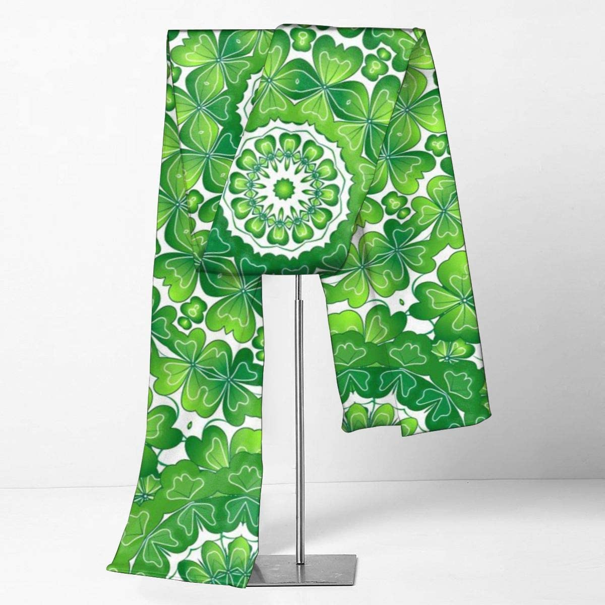 Imported Lightweight Neckwear Blanket Wrap Winter Shawl St Patricks Day Crazy Texture With Clover Scarfs