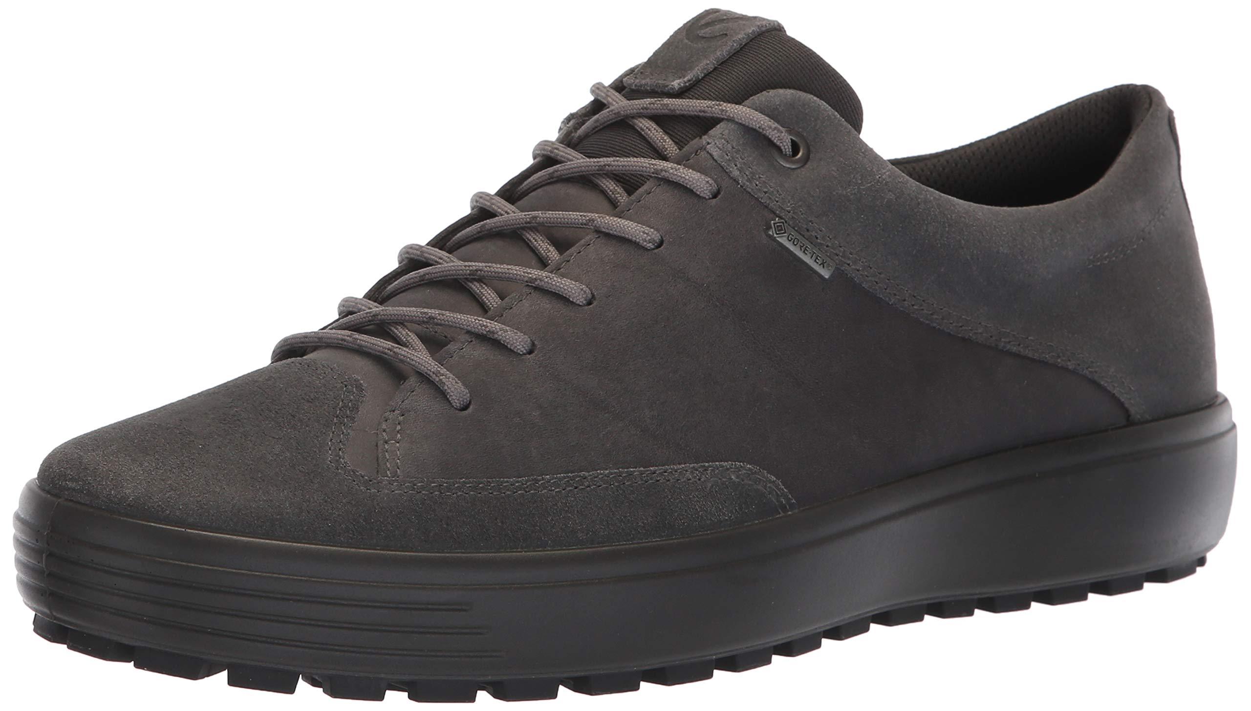 ECCO Men's Soft 7 TRED Low Gore-TEX Sneaker, Magnet Suede/Magnet Nubuck, 44 M EU (10-10.5 US) by ECCO