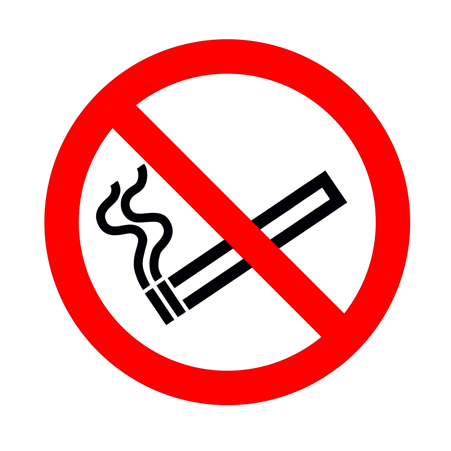 image regarding Printable No Smoking Signs referred to as 24 Crystal clear NO Smoking cigarettes Symptoms - WINDOW STICKERS - 75MM - ISO Compliant - Great For Retailer Automobile Van Bus Keep Cab Taxi Teach - Excellent Display screen PRINT By way of