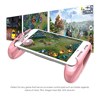Amazon Com Gamesir F Mobile Joystick Controller Grip Case For Smartphones Mobile Phone Gaming Grip With Joystick Controller Holder Stand Joypad With