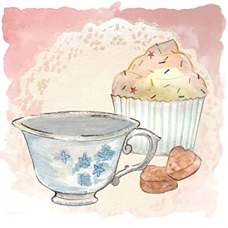 Pack Of 6 Luxury Blank Tea And Cake Art Cards Afternoon Tea