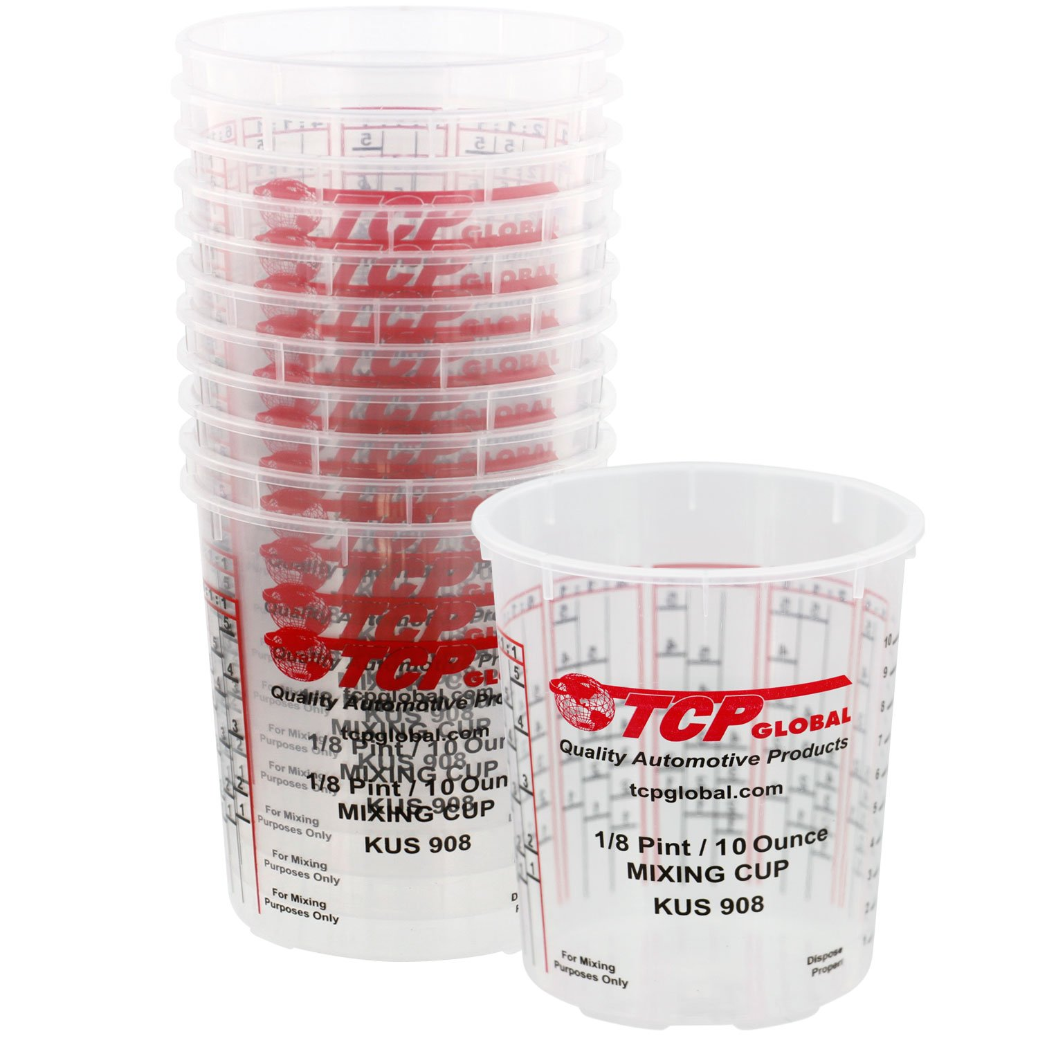 Custom Shop Box of 12 each - 8 Ounce PAINT MIXING CUPS by Cups have calibrated mixing ratios on side of cup BOX OF 12 Cups 908-12