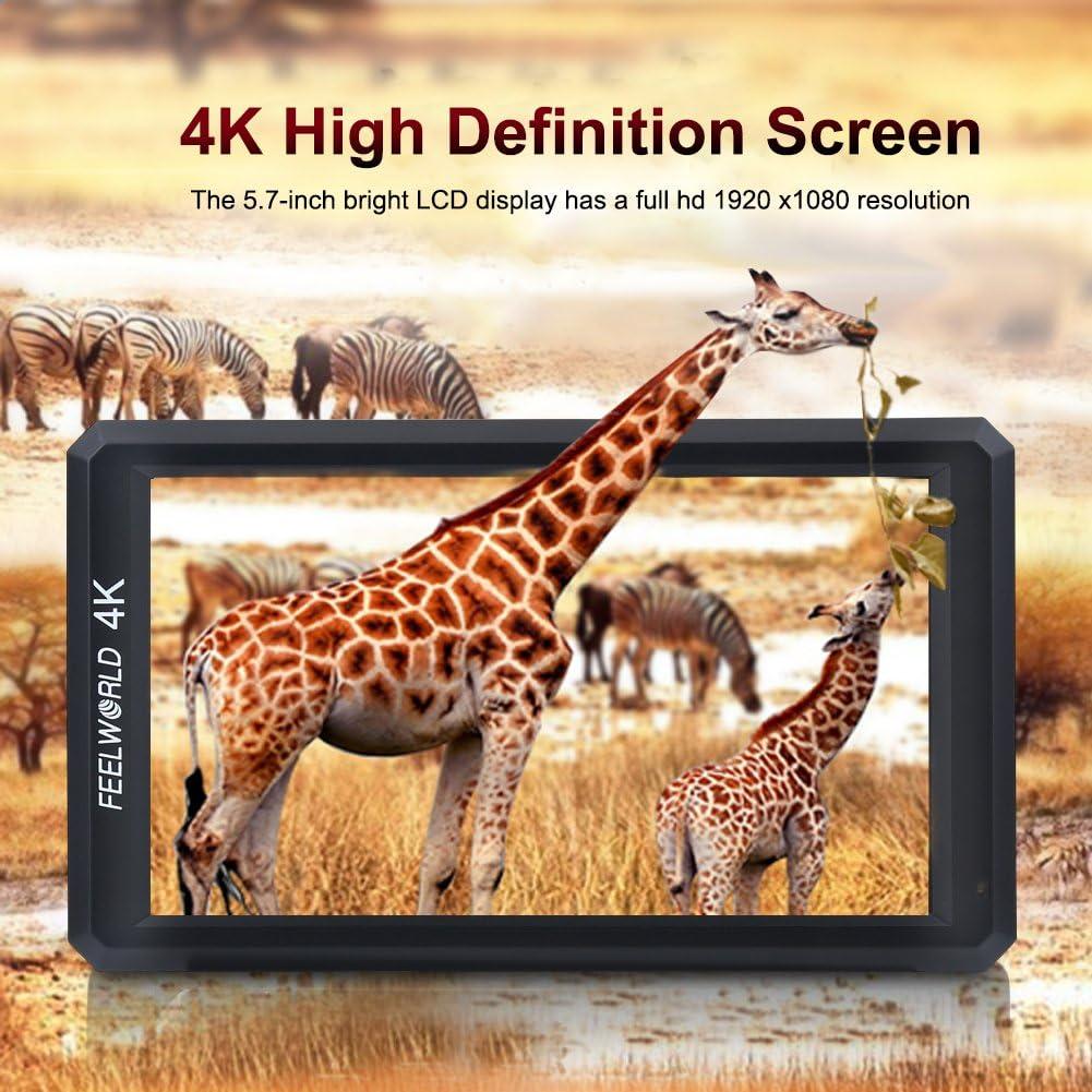 EBTOOLS Feelworld F6 Monitor de Video de Alta Definici/ón 4K Full HD para Estabilizador de Mano