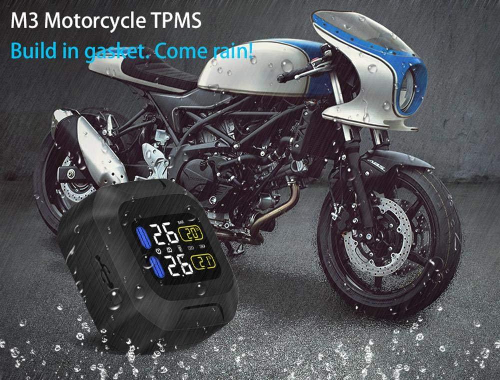 syst/ème de Surveillance de Pression de Moto Super Protection Solaire imperm/éable Tpms syst/ème M3 TPMS Biback Capteur de Pression dentretien de Pneu de Moto de