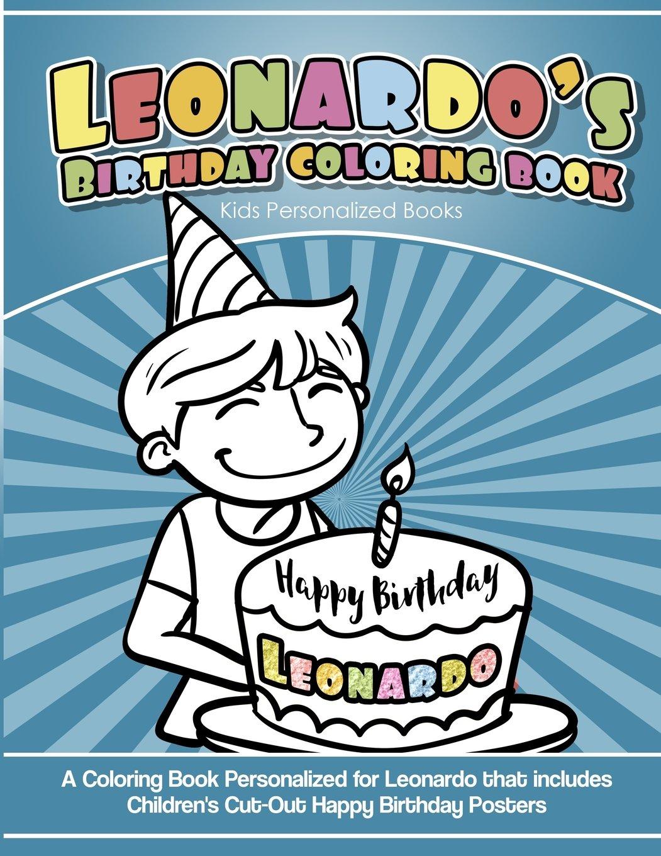 Leonardos Birthday Coloring Book Kids Personalized Books A