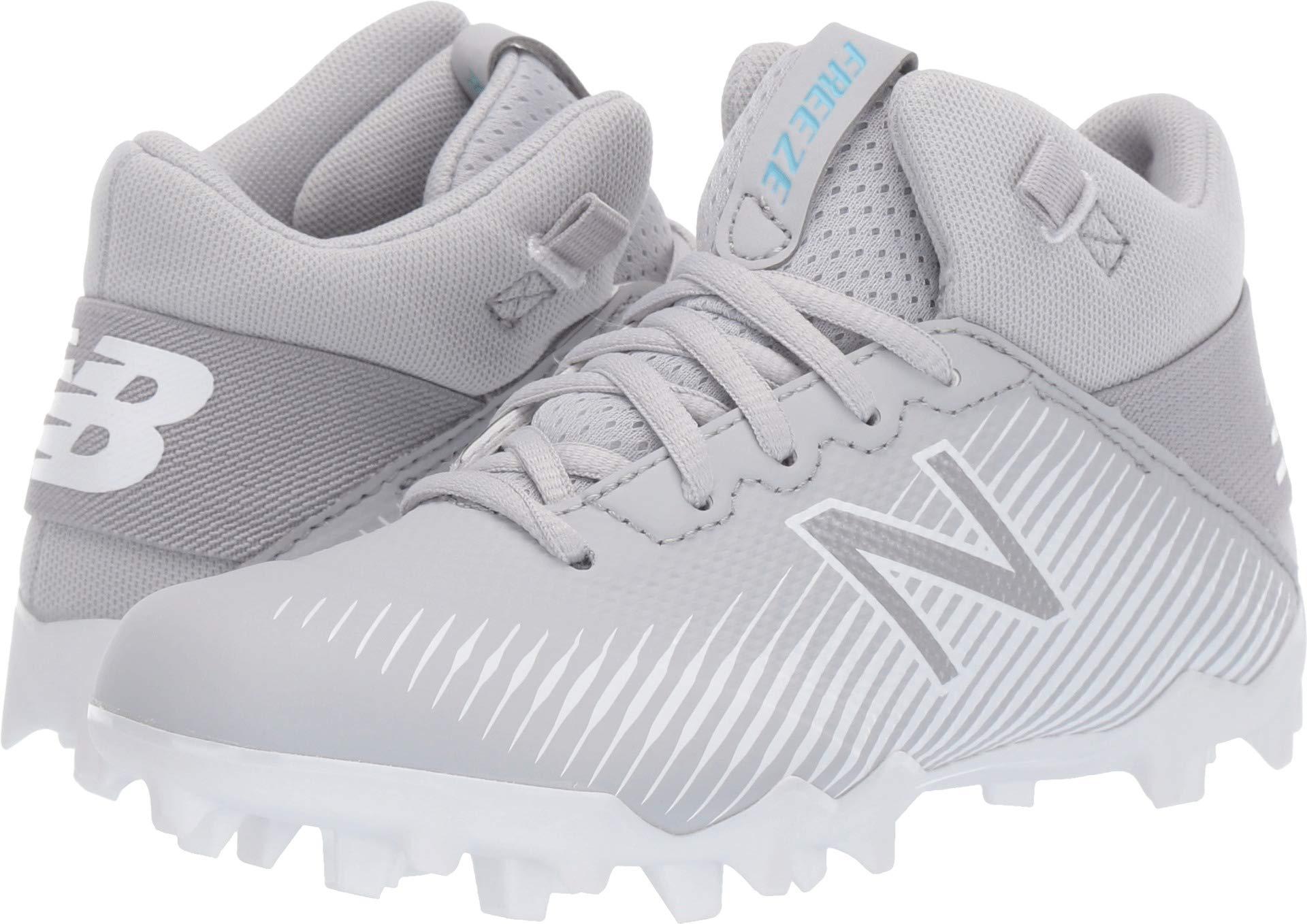 New Balance Boys' Freeze V2 Agility Lacrosse Shoe, Grey/White, 3 W US Little Kid