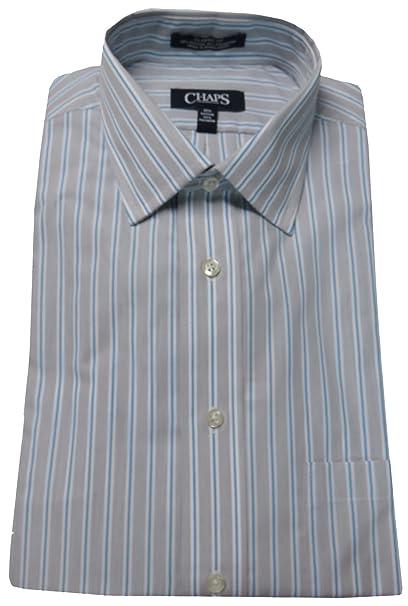 47eec0b7dba Chaps Men s Classic Fit Wrinkle Free Dress Shirt (17.5 32 33 ...