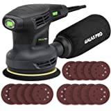 """GALAX PRO 280W 13000OPM Max 6 Variable Speeds Orbital Sander with 15Pcs Sanding Discs, 5"""" electric Sanderwith Dust Collector"""