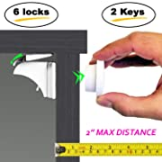 Baby & Child Proof Cabinet & Drawers Magnetic Safety Locks - Heavy Duty Locking System (6-Pack)