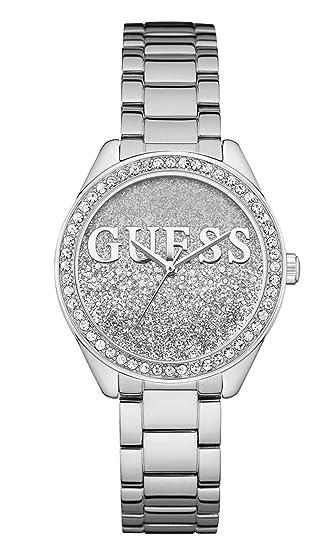 Guess Reloj Analógico para Mujer de Cuarzo con Correa en Acero Inoxidable W0987L1: Amazon.es: Relojes