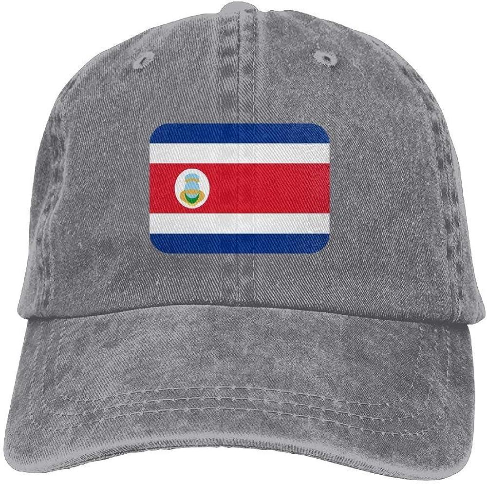 Jhonangel Costa-Rica Sombrero de Vaquero Adulto Gorra de béisbol Ajustable Atlético Personalizado Mejor Sombrero gráfico para Hombres y Mujeres