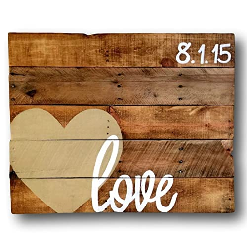 Wood Love Sign/ Alternative Wedding Guestbook/ Wedding Date Sign/ Wood Guest book Sign