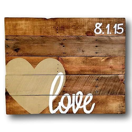 Amazon.com: Wood Love Sign/ Alternative Wedding Guestbook/ Wedding ...