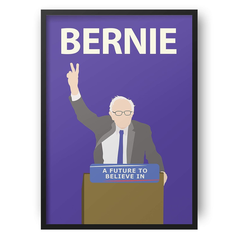 Democrat Inspirational USA Socialisme Bernie Sanders Affiche //// Portrait Minimaliste Dortoir Color/é
