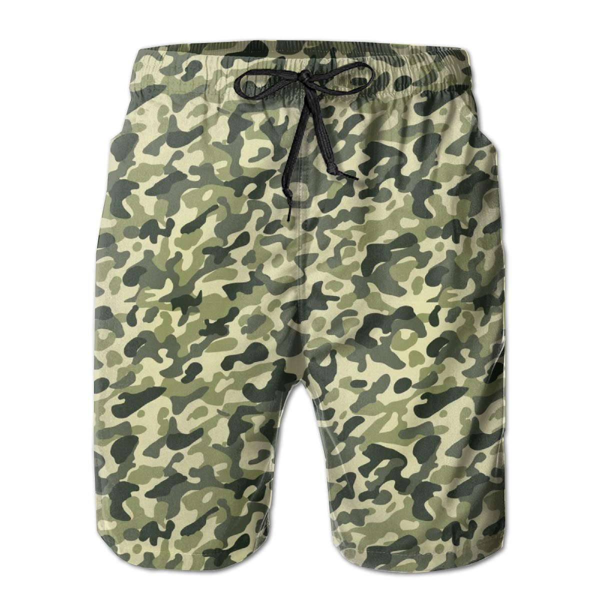 Not applicable Mens Customized Camouflage Camo Army Quick Dry Mens Swim Trunks Sports Shorts