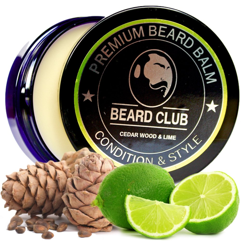 Premium Beard Balm | Cedar Wood and Lime | Natural and Organic | The Best Beard Conditioner and Softener for Hair Care and Growth | Shape and Style Your Beard, While Stopping Beard Itch and Flakes Red King Products